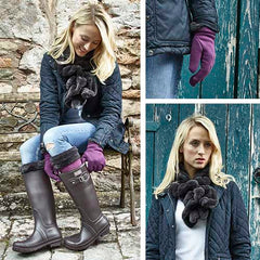 Briers faux fur range of stylish gloves and scarf