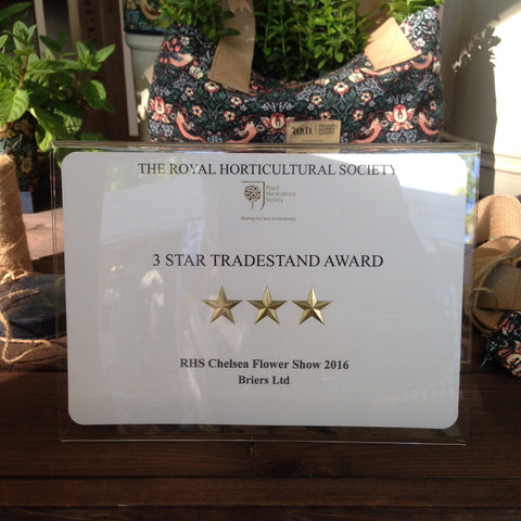 Briers RHS Chelsea 2016 3 Star Tradestand Award