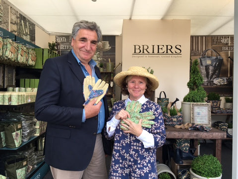 RHS Chelsea 2016 press day celebrity #gluvie Imelda Staunton and her husband Jim Carter