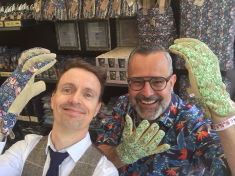 RHS Chelsea 2016 press day celebrity #gluvie Mike Cook and Romeo Sommers