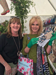 Briers' Jackie Eades with Joanna Lumley