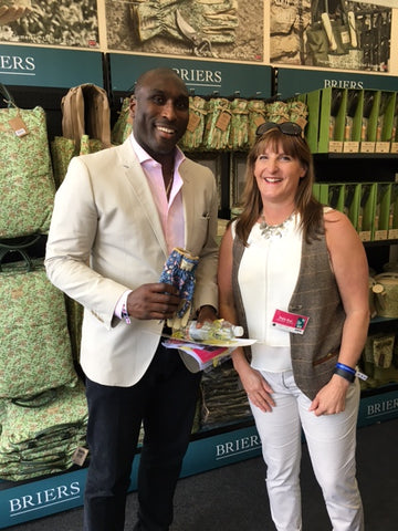 RHS Chelsea 2016 celebrity #gluvie Sol Campbell