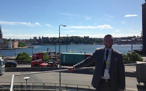 Liam Walsh International Sales Manager at Briers enjoying the view of Stockholm at the 4th Global DIY Summit 2016