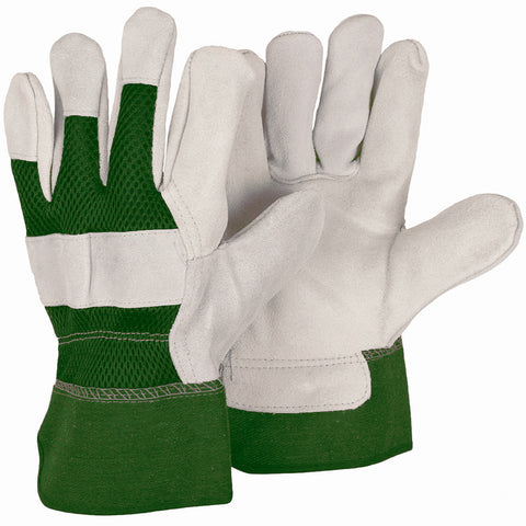 Reinforced Green Rigger Gloves - Briers
