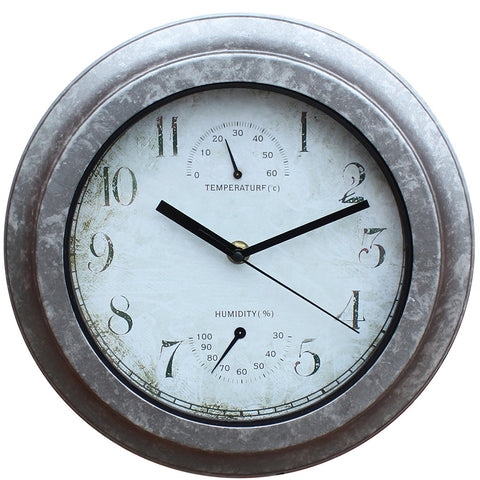 Galvanized Effect Clock - Briers