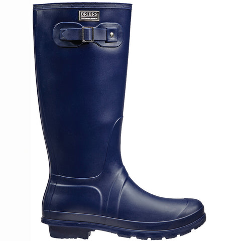 Classic Rubber Look PVC Wellington Boots Navy - Briers