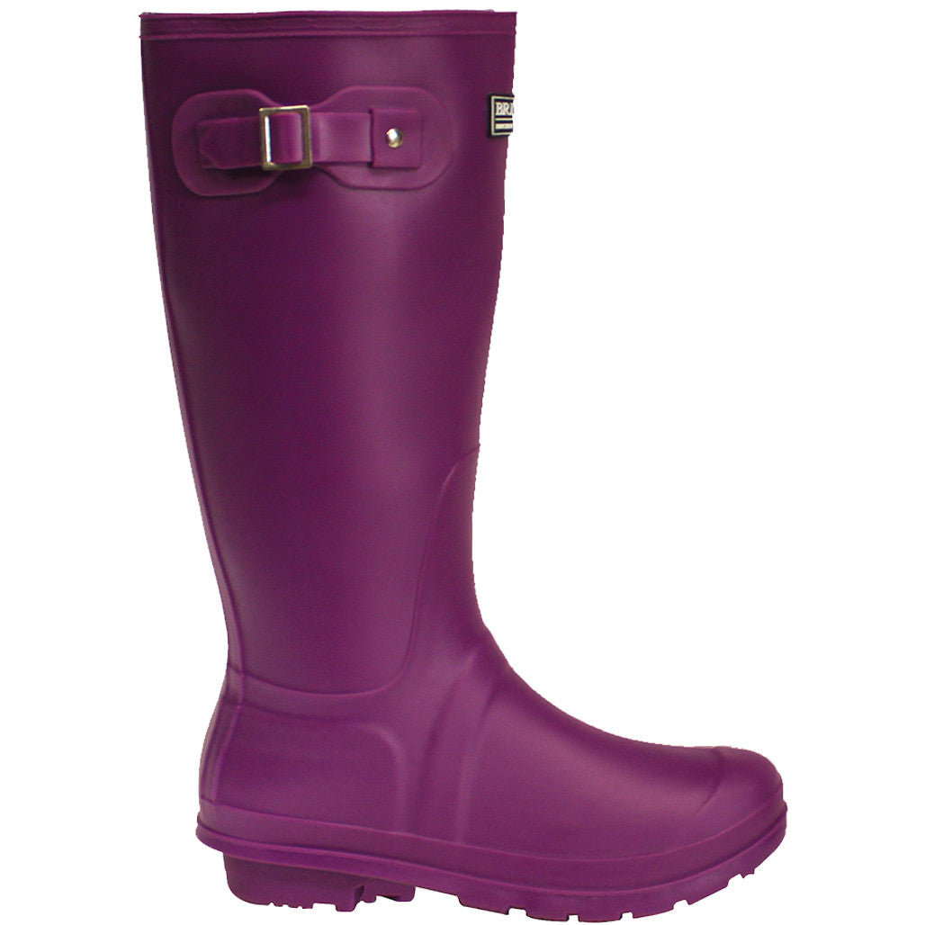 Decorative Watering Cans Classic Rubber Look Pvc Wellington Boots Purple Briers
