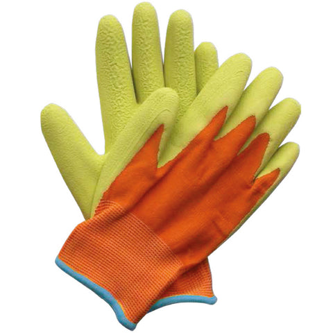 Kids Junior Digger Green & Orange Gloves - Briers