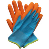 Kids Junior Digger Orange & Blue Gloves - Briers