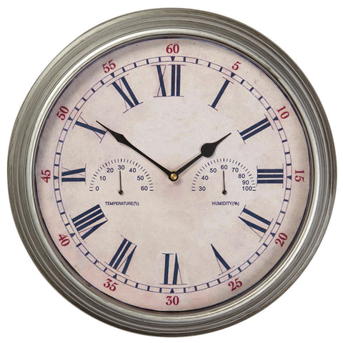 Wedmore Clock Galvanised Finish - Briers