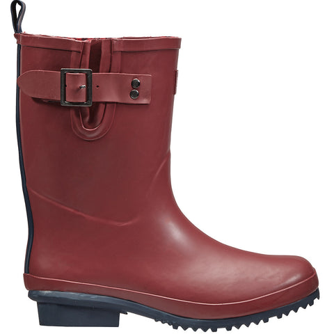 Half Rubber Wellington Boots Claret - Briers