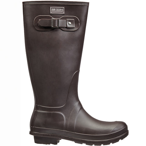 Classic Rubber Look PVC Wellington Boots Chocolate - Briers