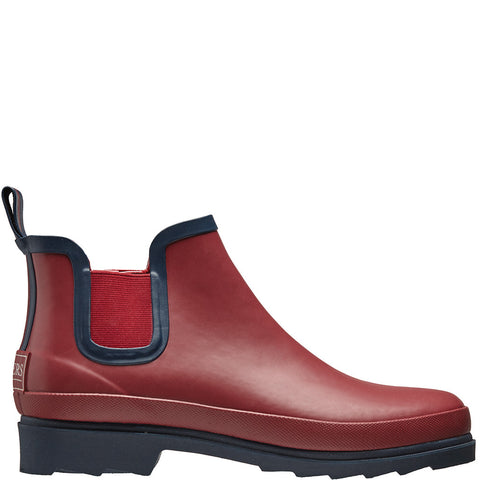 Chelsea Rubber Wellington Boots Claret - Briers