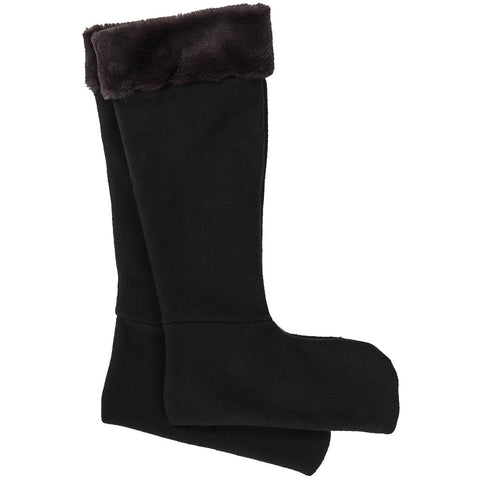 Faux Fur Wellington Boot Socks Black - Briers
