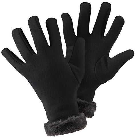 Faux Fur Gloves Black - Briers