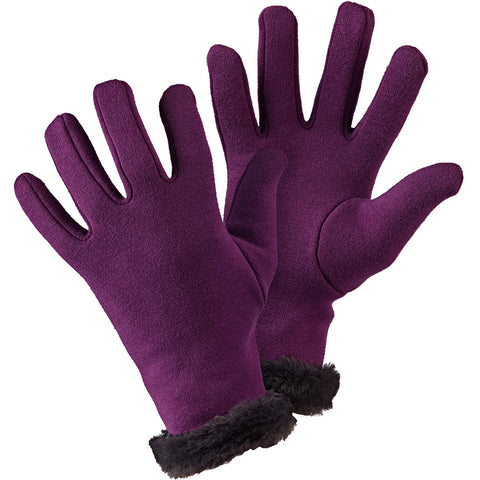 Faux Fur Gloves Purple - Briers