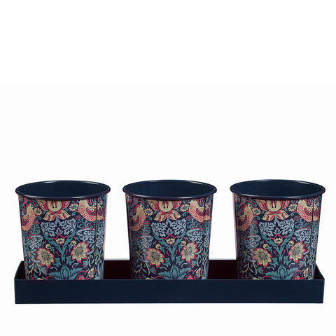 William Morris Strawberry Thief Herb Pots - Briers  - 1
