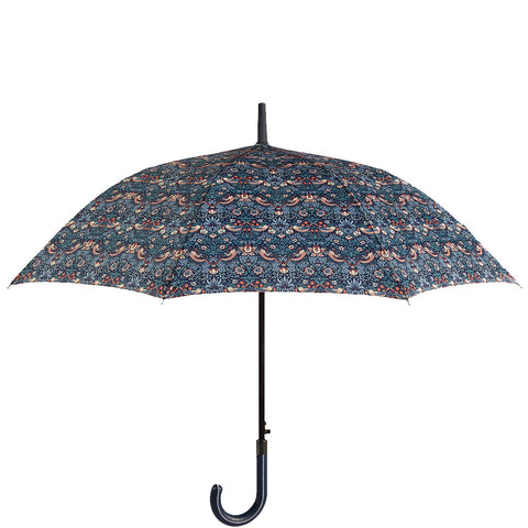 William Morris Strawberry Thief Stick Umbrella - Briers  - 1