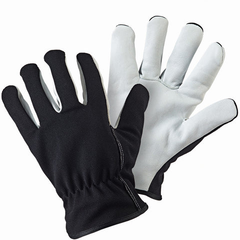 Lined Dual Leather Black Gloves - Briers