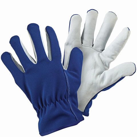 Lined Dual Leather Blue Gloves - Briers