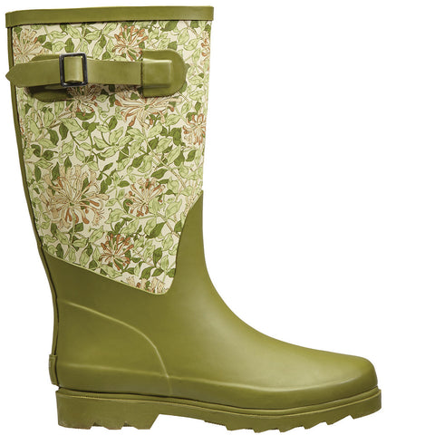 William Morris Honeysuckle Fabric Feel Rubber Wellington Boots - Briers  - 1