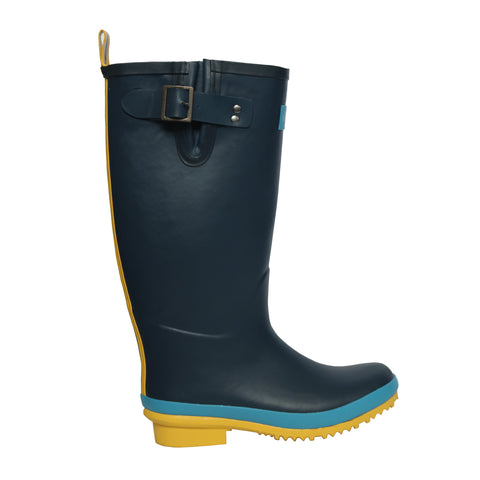Sandley Rubber Boots Blue/Yellow