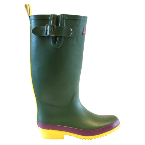 Sandley Rubber Boots Green/Yellow