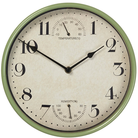 Sherborne Clock Sage Green - Briers