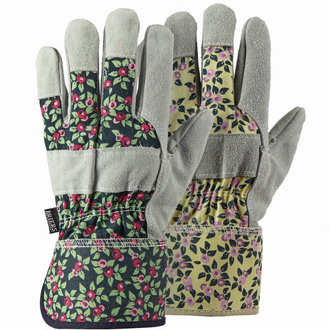Plum Floral Rigger Twin Pack Gloves - Briers