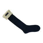 Sandley Knitted Boot Sock Blue