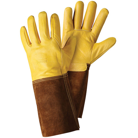 Premium Golden Leather Gauntlet Gloves - Briers  - 1