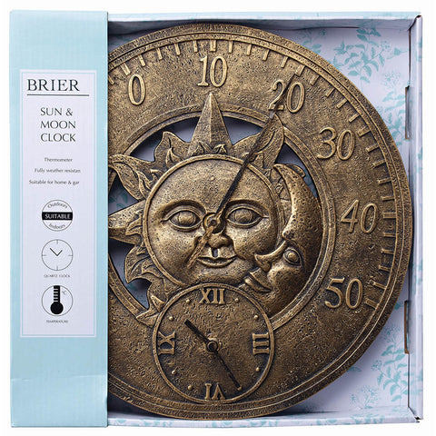 Sun & Moon Thermometer Clock - Briers