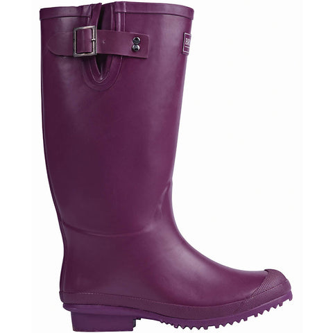 Rubber Wellington Boots Aubergine - Briers