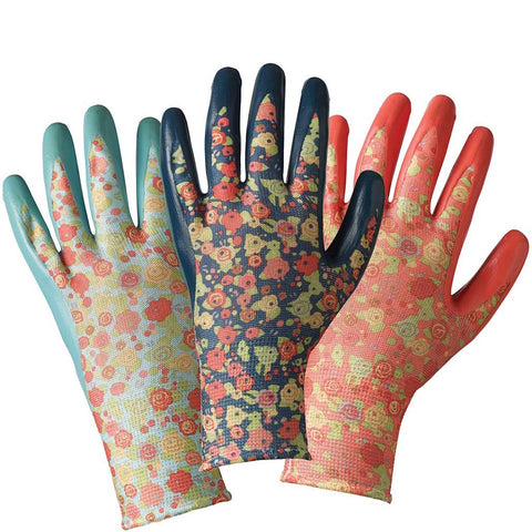 Julie Dodsworth Orangery Seed & Weed Triple Pack Gloves - Briers