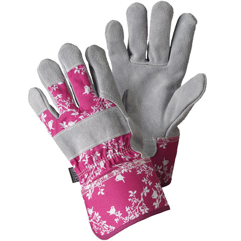 Birds & Branches Magenta Rigger Gloves - Briers