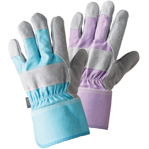 Ladies Rigger Sky Blue & Lavender Twin Pack Gloves - Briers