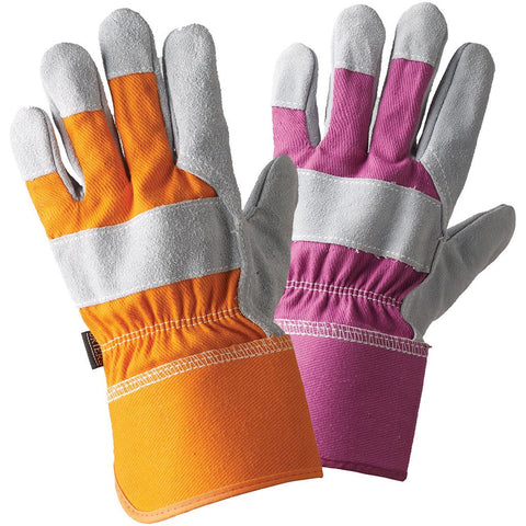 Ladies Rigger Orange & Magenta Twin Pack Gloves - Briers