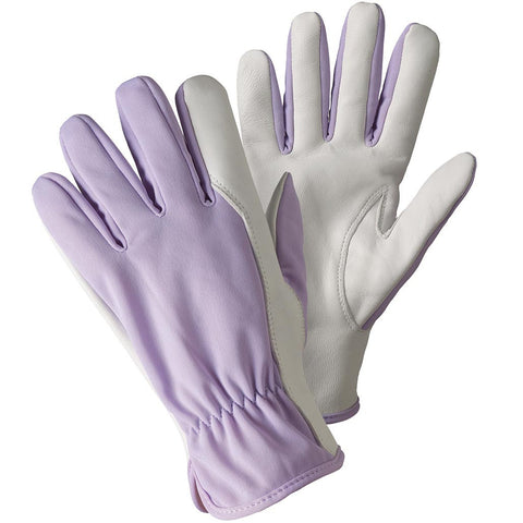 Super Soft & Strong Leather Gloves Lavender - Briers