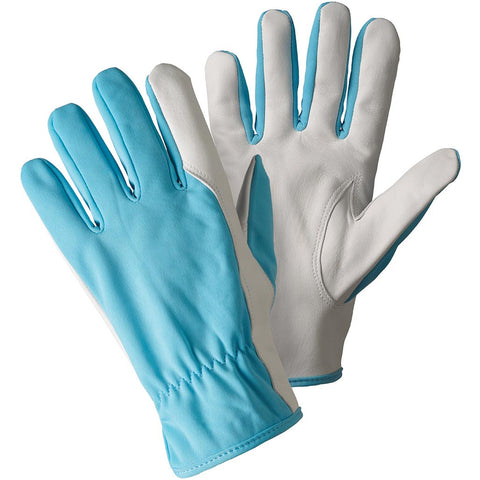 Super Soft & Strong Leather Gloves Sky Blue - Briers