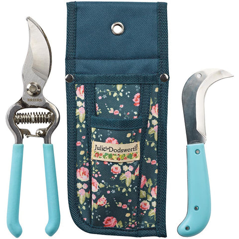 Julie Dodsworth Flower Girl Secateurs, Knife & Pouch Set - Briers