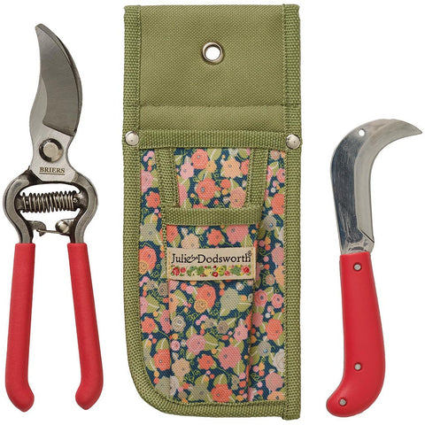 Julie Dodsworth Orangery Secateurs, Knife & Pouch Set - Briers