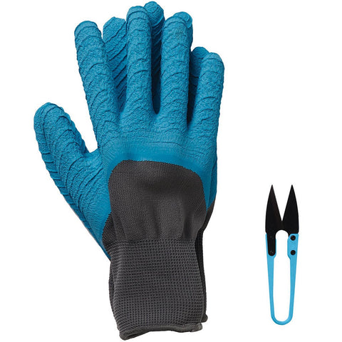 All Seasons Gardener Gloves & Snips Sky Blue - Briers