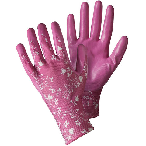 Birds & Branches Magenta Seed & Weed Gloves - Briers