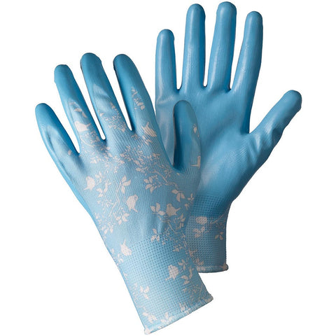 Birds & Branches Sky Blue Seed & Weed Gloves - Briers