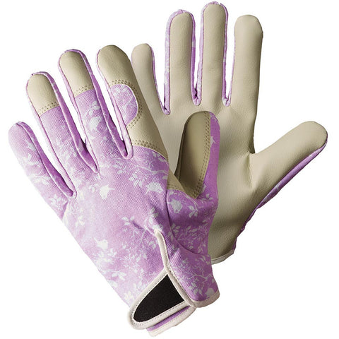 Birds & Branches Lavender Pink Lady Gardener Gloves - Briers