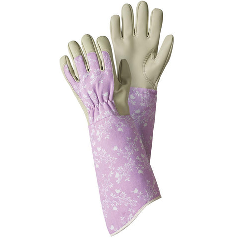 Birds & Branches Lavender Pink Gauntlet Gloves - Briers