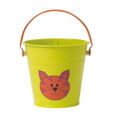 Kids Small Metal Farmyard Bucket, Assorted Colours