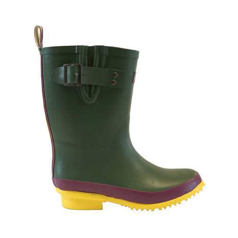Sandley Half Rubber Boots Green/Yellow