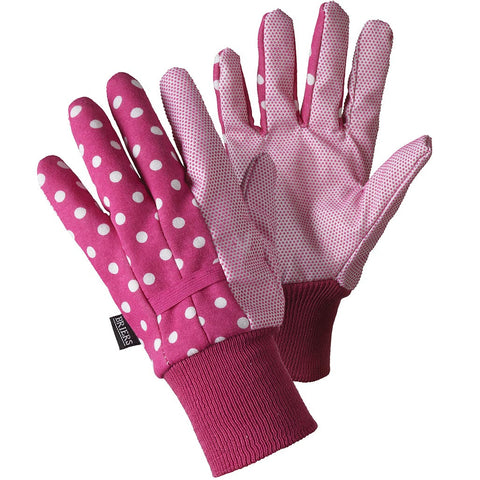 Water Resistant Gloves Magenta White Spots - Briers