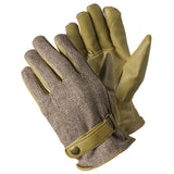 Leather Herringbone Beige Gloves